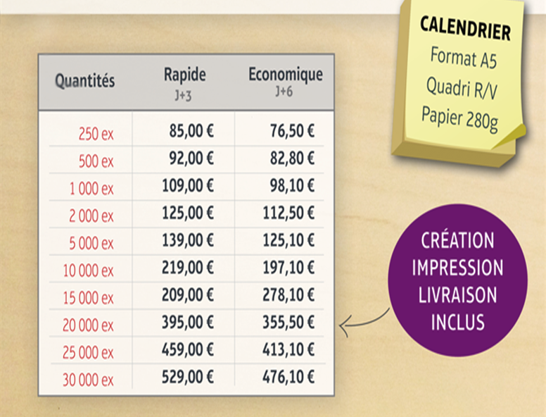 Calendrier immobilier 2016